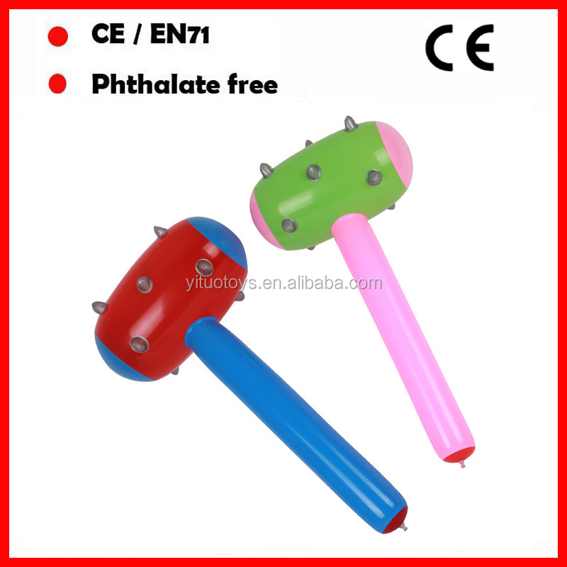 customized size and color inflatable hammer toys with OEM LOGO pvc hammer