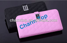Genuine Sheep Leather Wallet Case For HTC One M7