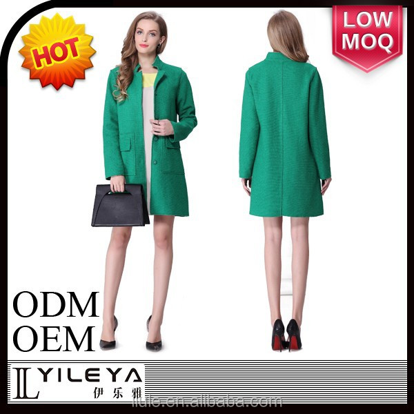 2014 new model green noble women cashmere coat and skirt