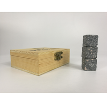 Whiskey Stones Gift Set 9 Granite Chilling Whisky Rocks in Wooden Box Premium Bar Accessories for the Best Tasting Beverages