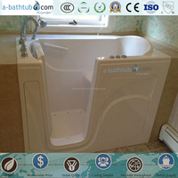 Cheap acrylic white walk in bathtub for older people
