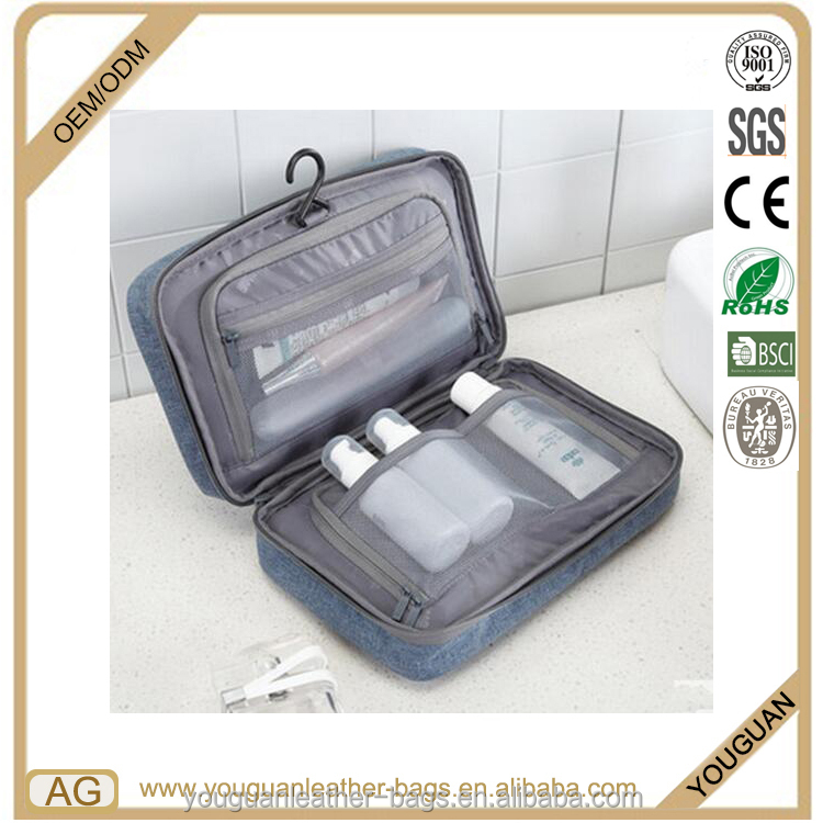 Guangzhou factory made hanging portable business travel washing toiletry organizer bag for man