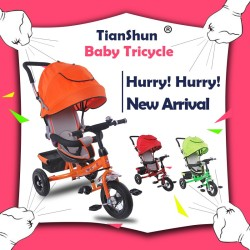 kids pedal trike baby stroller tricycle 3 wheel trike car child big wheel trike