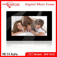 7-inch gif digital photo frame with 800 x 480 Pixels Resolution and MP3 Player