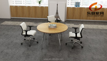 KL-14 aluminum feet oval-shape small round CONFERENCE TABLE