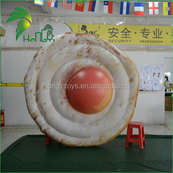 Vividly Advertising Display Fried Egg Inflatable / Large Promotion Omeletter Replica Egg Pool Float