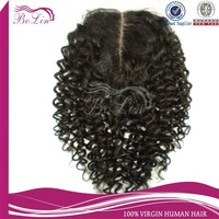 "Alibaba Express Stock High Quality Water Wave Virgin Brazilian Human Hair Silk Lace Closures(4""x4"") Accept Paypal"