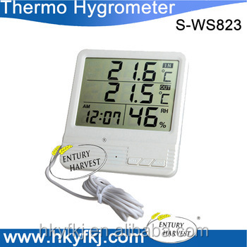 Factory promotion digital thermohygrograph with temperature sensor wire