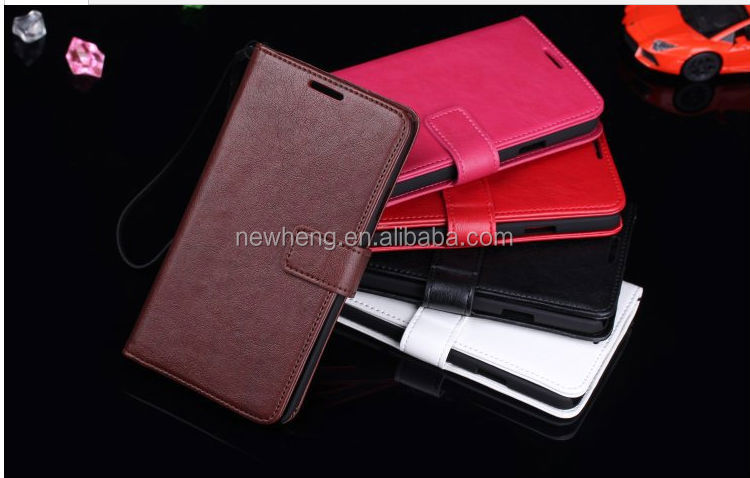 New Arrival Leather Wallet Folio Stand Flip Cover Case for Samsung Galaxy s5 i9600 with Credit Card case