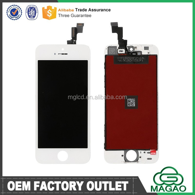 Cell phone spare parts for iphone 5s lcd with frame, for iphone 5s mirror lcd, lcd screen display for iphone 5s