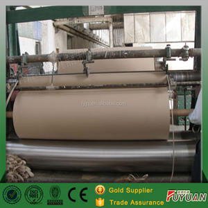 used waste carton lined double kraft paper manufacturing machinery