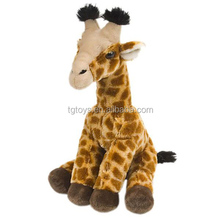 Wild animals plush toys sittting giraffe 20inch