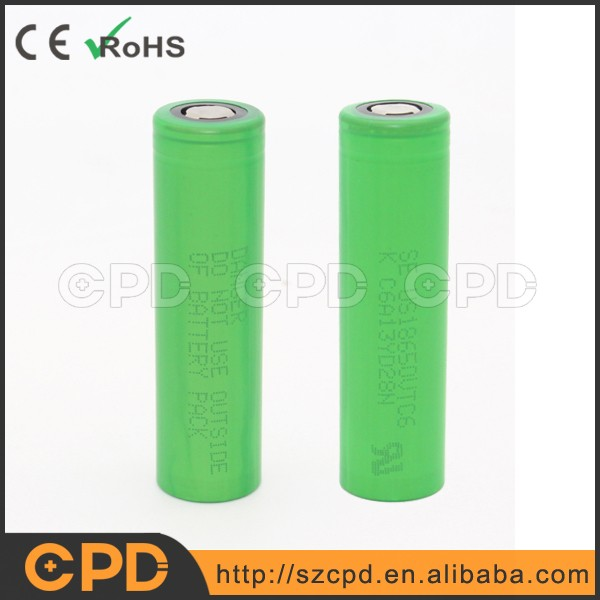Good quality Japan cell authus18650 vtc6 3000mAh entic 30A discharge Li-ion rechargeable battery for Sony