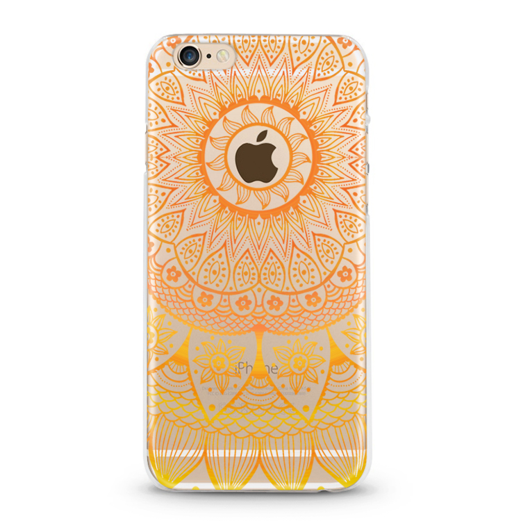 Mandala Flowers mobile cases for samsung J7 A1 A5 transparent tpu phone back cover for iPhone 7 mobile case for samsung s7