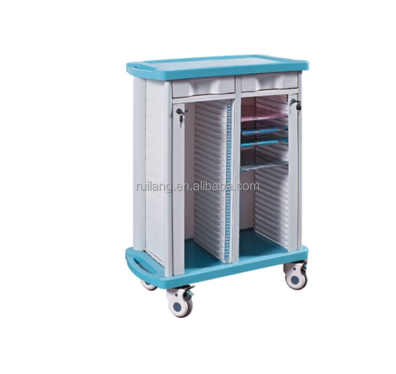 RT-046ABS-2500 Popular ABS Medical Rolling File Cart