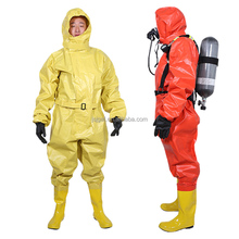 Light type fireman professional rubber chemical suit sold on Alibaba