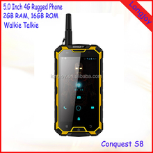 Outdoor Military Rugged IP68 Mobile Phone Android 4.4 Quad Core 16GB ROM Dual SIM Card 6000mAh Battery with Walkie Talkie