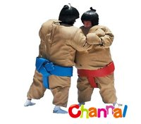 kids and adults foam padded inflatable sumo suits wrestling sport game