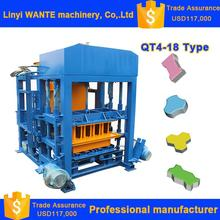 QT4-18 Wante Multi-function High Productivity Top Quality fully automatic block making machine