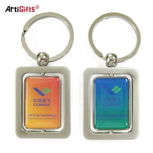 Wholesale Keychains Factory Cheap Custom Metal Printed Keyrings