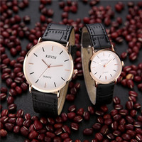 Kevin popular brand watches for couple lovers Ultrathin strap and watchcase Luxury good quality and cheap