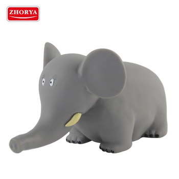 zhorya eco friendly soft vinyl 8 inch cartoon plastic elephant