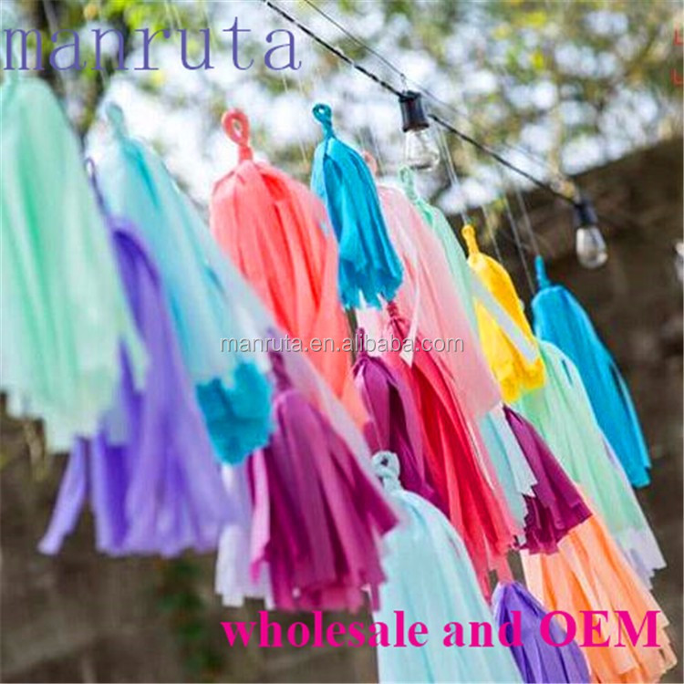wholesale online colorful tissue paper tassel for wedding <strong>decoration</strong> and party