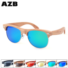 AZB 2017 High Quality <strong>bamboo</strong> uv400 polarized sun glasses real wood sunglasses for wholesales