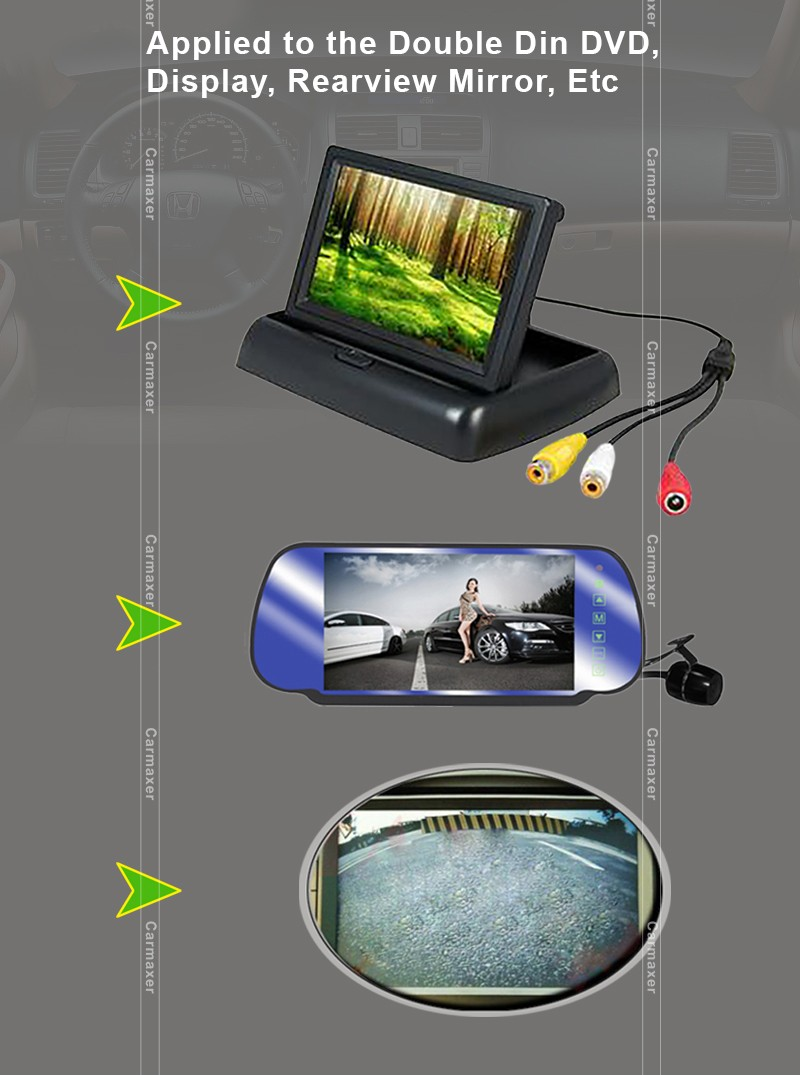 Hot selling car rearview mirror camera dvr car backup camera