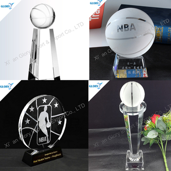 New Design Custom Crystal Basketball Trophies for Gift