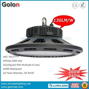 2016 New Hot sale IP65 waterproof LED high bay light 240W replace 1000W metal halide lamp halgen bulb