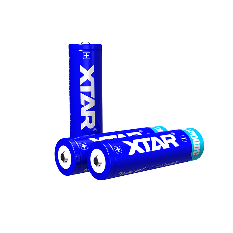 XTAR 18650 3000mAh rechargeable li-ion high performance Lithium battery with protection