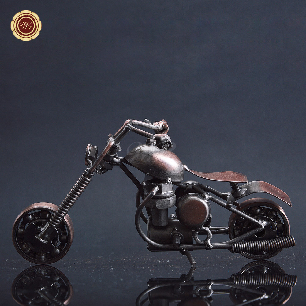 WR Metal Crafts Iron Motorcycle Model Gift Wholesale Wrought Iron Handicrafts, Ornaments. Gifts, Home Decoration