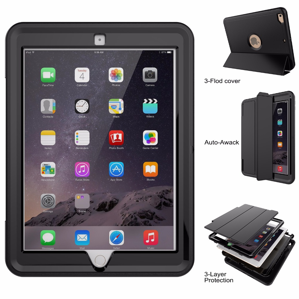 New Good Rugged Case For New Apple iPad 9.7 Case 3 in 1 2017