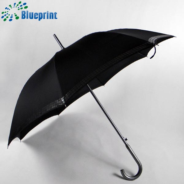 Wholesale hIgh quality light weight black stick umbrella for man
