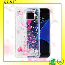 china market of electronic Dynamic Liquid Glitter Sand Quicksand Star Crystal Clear case cover For iphone 6