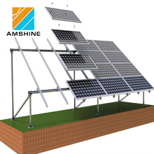 Solar pv module ground mounting rack / support structure