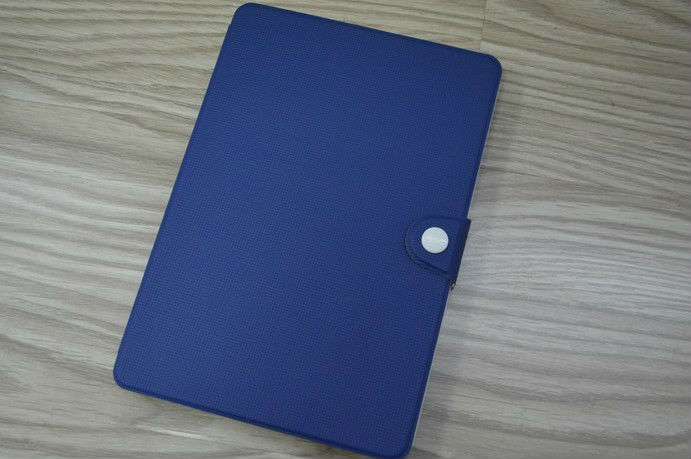 PU leather Case with card pocket for ipad mini - blue
