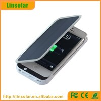 Portable Multiple Solar Power Charger rechargeable battery case for iphone5