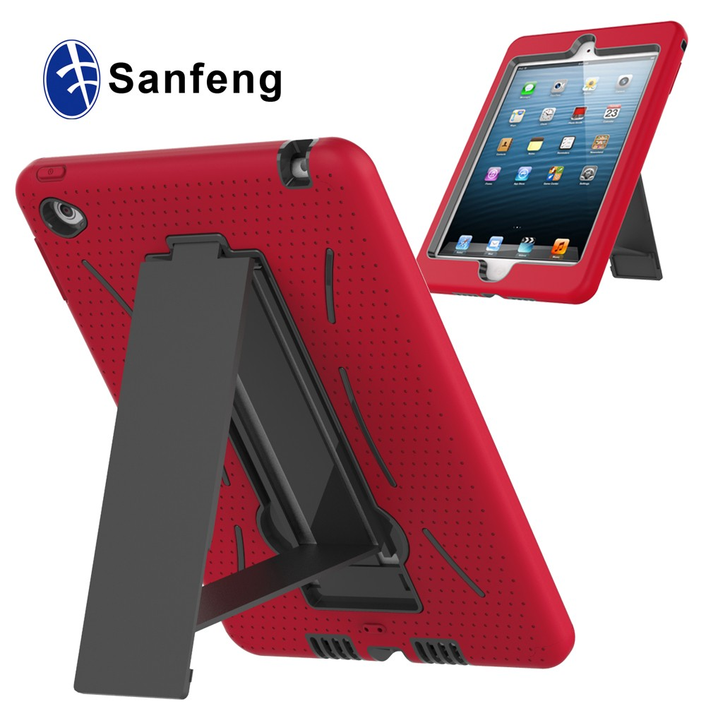 For Ipad Mini 4 case pc+silicone shockproof robot stand case