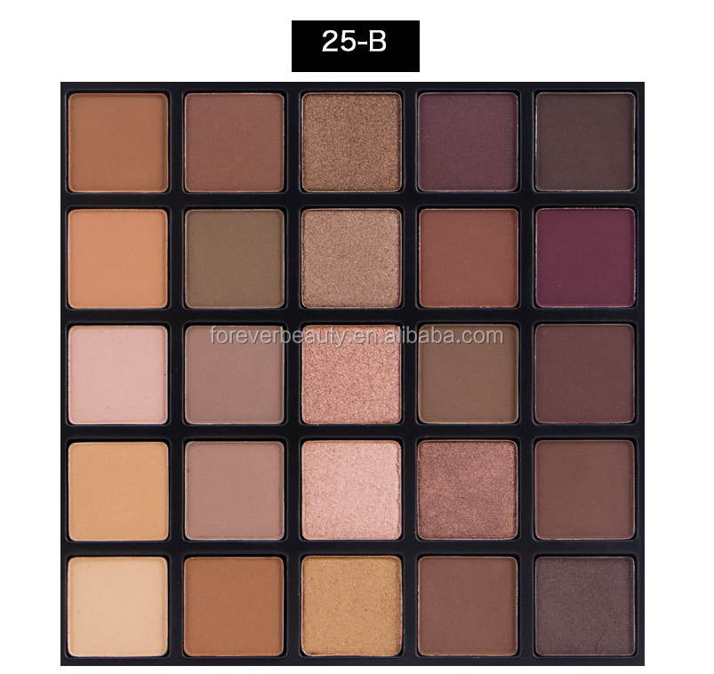 No logo customized high quality shimmer makeup eyeshadow palette 25 color professional matte maquillaje cosmetic eye shadow