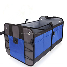 Large Three-Compartment Back Car Organizer , Tool Food Shopping Stuff Back Foldable Car Trunk Organizer Box