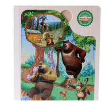 FQ brand wholesale wooden block jigsaw puzzle book custom baby interesting educational toy game jigsaw 3d wooden block puzzle