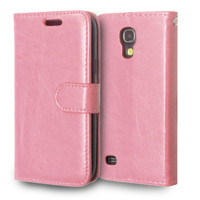 For Samsung Galaxy S4 Mini Magnetic Flip PU Leather Wallet Case with three Card Slots Stand Mobile Phone Cover cases
