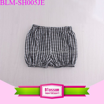 Summer Houndstooth Kids Seersucker Shorts Infant Toddler Nappy Cover Child Girls Bubble Shorts