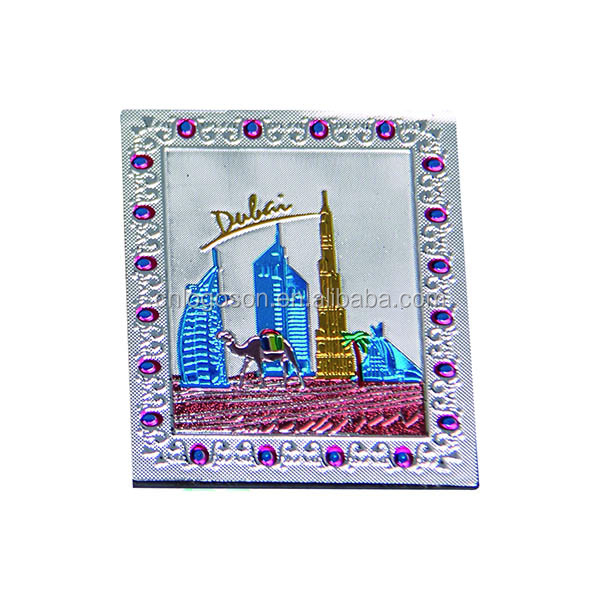 2016 New design dubai fridge magnet with foil paper printed