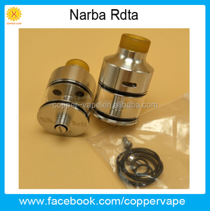 2017 hot Narba Single Airflow on Single Coil 316ss Narba rdta with great flavor by Coppervape Narba atomizer