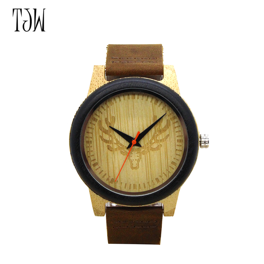 TJW Fashion Wooden Watchcustom design wooden wrist watches for casual <strong>men</strong> and ladies <strong>mens</strong> wood watch japan quartz Movement