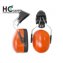 H302-1 ANSI CE Ho Cheng Safety Taiwan red helmet ear muffs