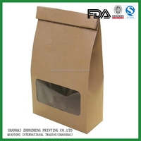 Brown film front cellophane paper sandwich bags